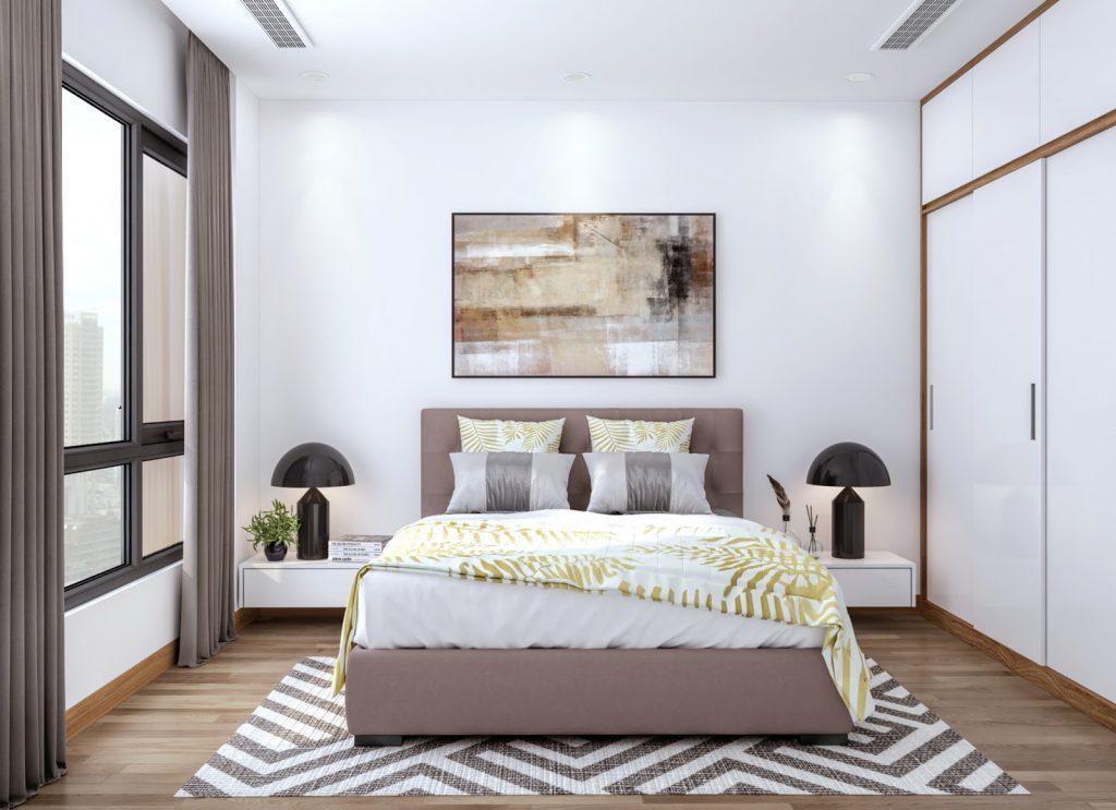 Thiết kế nội thất sang trọng căn hộ The Sun Mễ Trì.